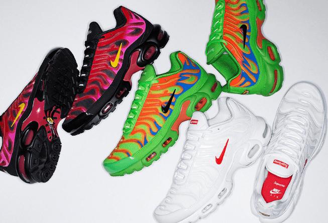 骚气复古跑鞋!Supreme x Nike Air Max Plus联名来袭!