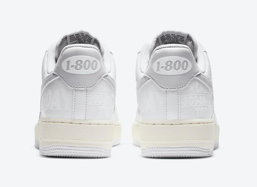 """鞋面暗纹+键盘按键鞋带扣!全新AF1""""1-800""""惊艳亮相! 货号:CJ1631-100"""