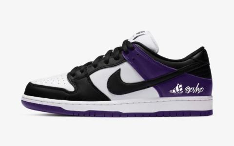 """全新Nike SB Dunk Low""""恶人紫""""配色首度曝光!颜值不输AJ1! 货号:BQ6817-500"""
