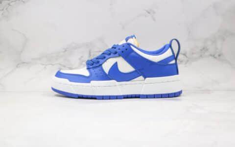 耐克Nike Dunk Low Disrupt公司级版本低帮SB DUNK增高解构老爹鞋白蓝色原盒原标 货号:CK6654-100