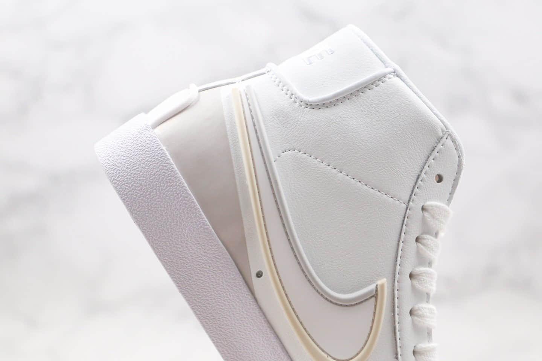耐克Nike Blazer Mid 77 Infinite纯原版本中帮王一博同款滴塑开拓者灰白色板鞋原鞋开模一比一打造 货号:DA7233-101