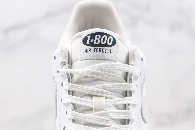 耐克Nike Air Force 1 '07 Premium Toll Free纯原版本低帮空军一号1-800字母英文涂鸦电话机板鞋原楦头纸板打造 货号:CJ1631-100