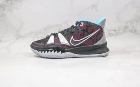 耐克Nike Kyrie 7 PRE HEAT EP LT TL3纯原版本欧文7代鲨鱼齿黑红色篮球鞋内置气垫支持实战 货号:CT4080-008