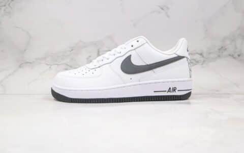 耐克Nike Air Force 1 '07 Low in White and Grey纯原版本低帮空军一号白灰黑色解构线条几何涂鸦板鞋内置全掌Sole气垫 货号:DD7113-100