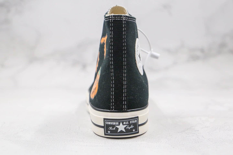 匡威CONVERSE Chuck Taylor 1970s公司级版本高帮万圣节2.0南瓜黑色硫化帆布鞋原档案数据开发 货号:162050C