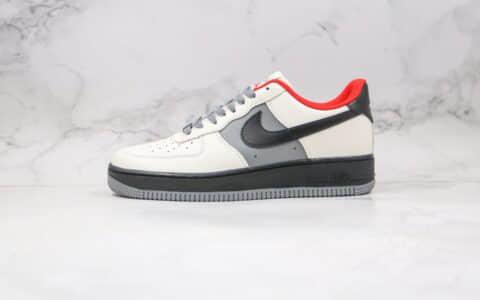 耐克Nike Air Force1 LOW'07纯原版本低帮空军一号米白红黑色板鞋内置全掌Sole气垫 货号:AQ4134-408