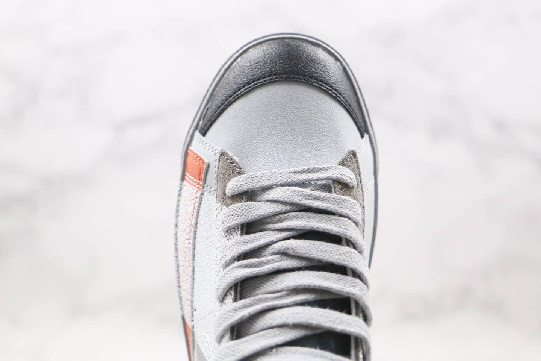 耐克Nike Blazer Mid '1977 VNTG纯原版本中帮开拓者今朝明朝联名款灰银色板鞋内置Zoom气垫 货号:DC9170-001