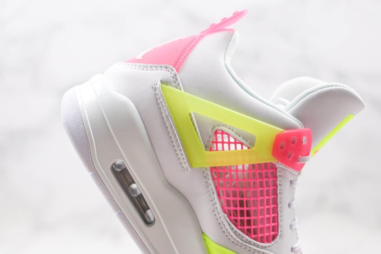 乔丹Air Jordan 4 GS Lemon Venom纯原版本糖果白粉绿色AJ4篮球鞋原档案数据开发 货号:CV7808-100