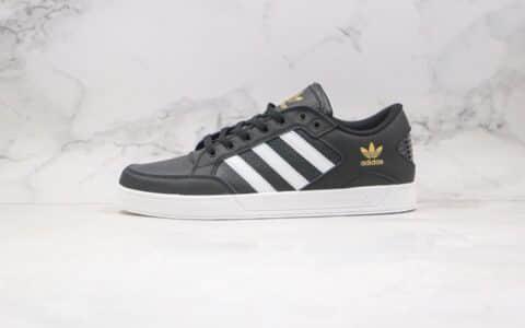 阿迪达斯Adidas Hardcourt Low公司级版本三叶草低帮系带板鞋黑白色原档案数据开发 货号:FX0521