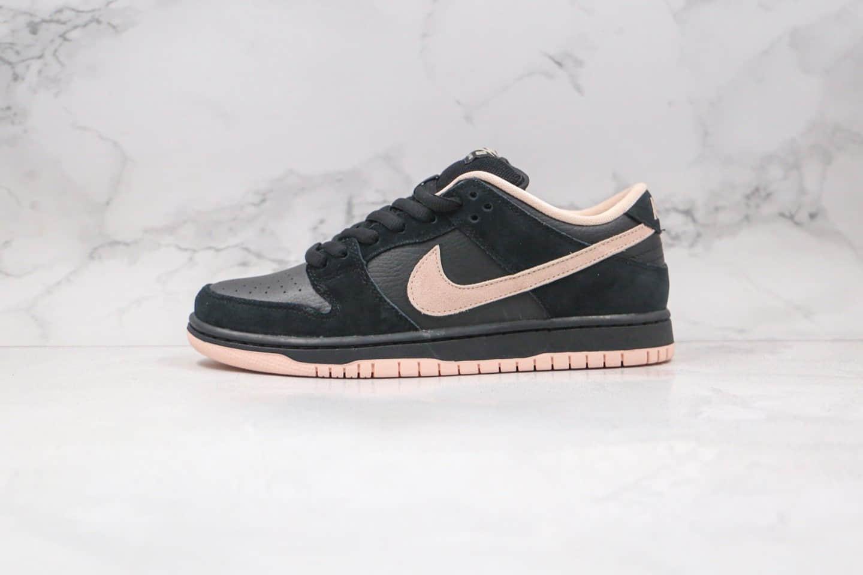 耐克Nike SB Dunk Low纯原版本低帮SB DUNK黑粉色麂皮拼接板鞋内置后跟Zoom气垫 货号:BQ6817-003