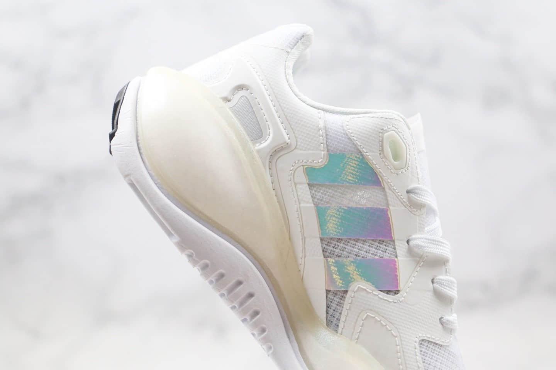 阿迪达斯Adidas Originals ZX ALKYNE纯原版本化学元素系列炔白镭射爆米花跑鞋原盒原标 货号:FY3026