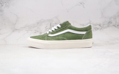 万斯Vans Old Skool公司级版本低帮板鞋麂皮墨绿色原标原盒