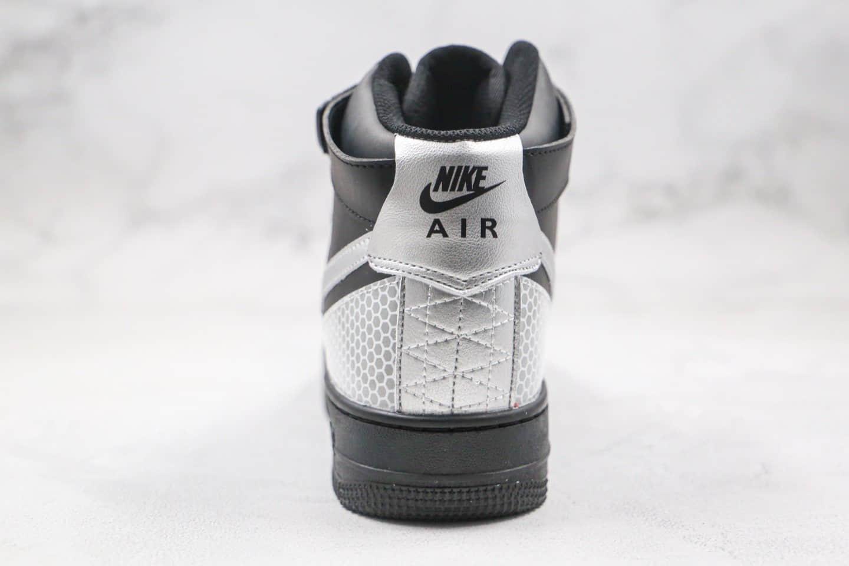 耐克Nike Air Force 1 High纯原版本高帮空军一号3M黑银色原楦头原纸板开发 货号:CU4159-001