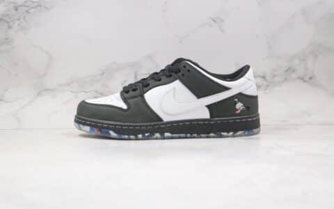 """耐克Staple x Nike SB Dunk Low """"Pigeon""""纯原版本黑鸽子联名低帮Dunk黑白熊猫竹子正确转印水晶印花大底 货号:BV1310-013"""
