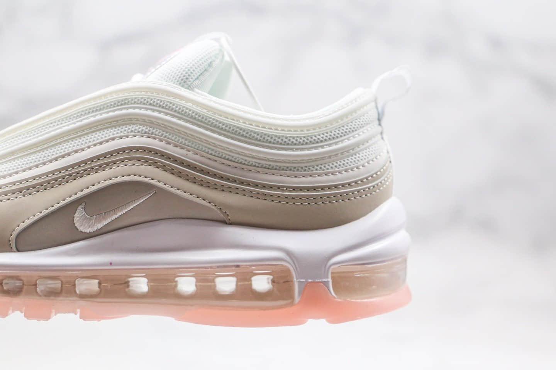 耐克Nike Air Max 97 GS纯原版本子弹气垫跑鞋米白粉色区别市面通货 货号:CT1904-100