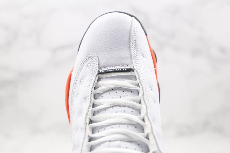 """乔丹Air Jordan 13 Retro""""Starfish""""公司级版本AJ13白橙扣碎原鞋开发 货号:414571-415"""