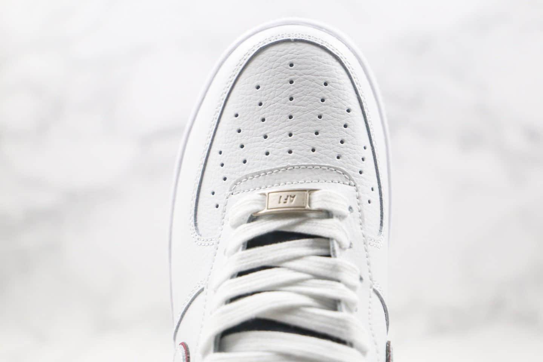 耐克Nike Air Force 1 Low纯原版本空军一号低帮AF1白红色正确中底拉帮 货号:AH0287-212