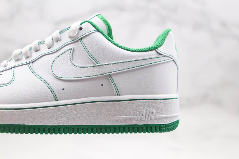 耐克Nike Air Force1 LOW'07纯原版本低帮空军一号白绿色缝线板鞋内置全掌Sole气垫 货号:CV1724-103