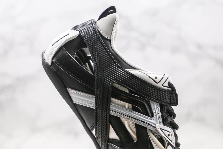 巴黎世家BALENCIAGA Drive纯原版本第六代复古老爹鞋黑白色镂空系列原盒配件齐全原档案数据开发