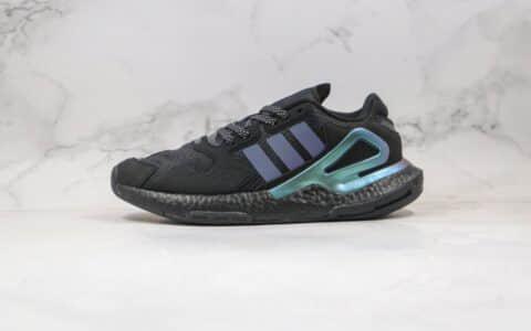 阿迪达斯Adidas Originals 2020 Day Jogger Boost 2020纯原版本三叶草夜行者二代爆米花跑鞋黑绿色原盒原标 货号:FY3015