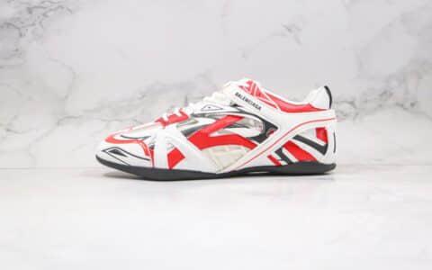 巴黎世家BALENCIAGA Drive纯原版本复古老爹鞋六代白红黑色镂空原盒配件齐全