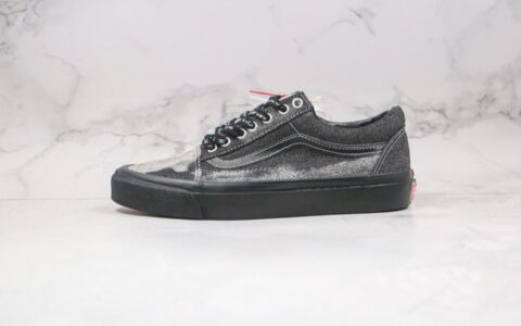 万斯Jim Goldberg x Vans Vault OG Old Skool LX公司级版本低帮水洗灰色牛仔黑色酸洗工艺硫化板鞋原档案数据开发