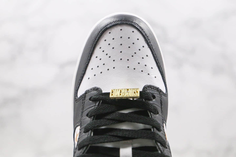 耐克Nike SB Dunk Low x Supreme纯原版本联名款低帮SB DUNK板鞋星星黑白色内置zoom气垫 货号:DH3228-102