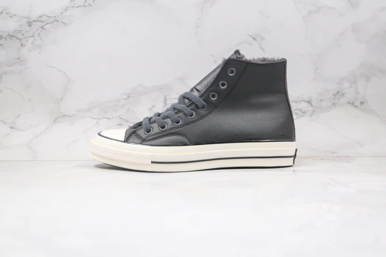 匡威Converse Chuck 70s公司级版本高帮皮面1970S加绒款黑色硫化板鞋原鞋开模一比一打造 货号:569516C