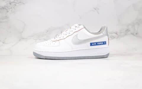 耐克Nike Air force1 LOW labei maker纯原版本低帮白银蓝色空军一号板鞋原档案数据开发原盒原标 货号:DC5209-100