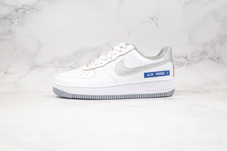 纯原版本耐克低帮白银蓝色空军一号板鞋出货