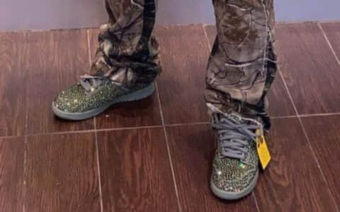 """""""绿钻""""CPFM x Nike Dunk Low释出最新上脚图!别忘了白色""""满钻""""Dunk明日发售! 货号:CZ2670-001"""