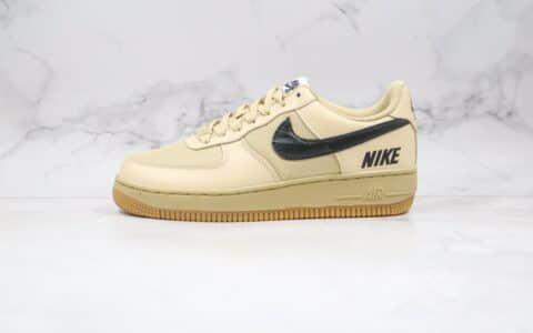 耐克Nike Air Force 1 PRM CLOT纯原版本低帮空军一号机能卡其色板鞋内置全掌Sole气垫 货号:CQ4215-700