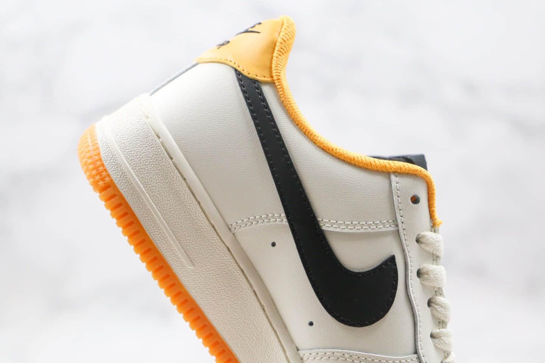 耐克Nike Air Force1 LOW'07纯原版本低帮空军一号米白黄黑色生胶板鞋原档案数据开发 货号:CT7875-998