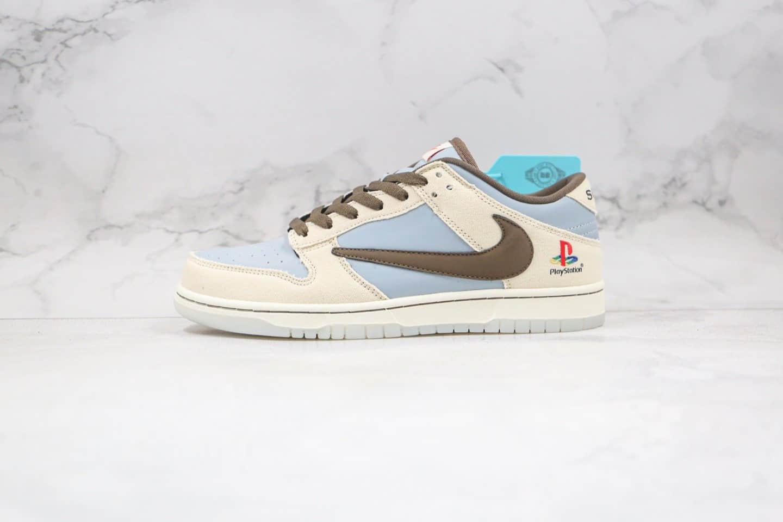 纯原版本耐克SB DUNK倒钩客制款索尼联名款米白蓝色板鞋出货