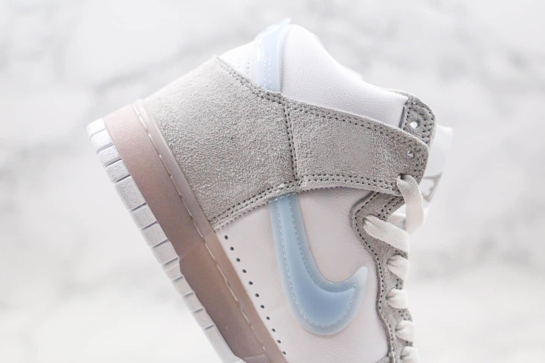 耐克Nike Dunk High纯原版本高帮SB DUNK倒钩果冻底透明板鞋内置Zoom气垫 货号:DA1639-100