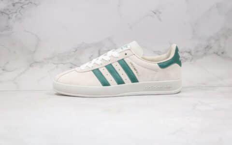 阿迪达斯Adidas BROOMFIELD公司级版本桑巴浅灰绿色板鞋原盒原标原楦头纸板打造 货号:EE5718