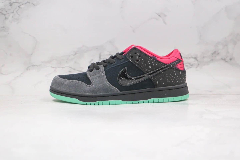耐克Nike SB Dunk Low Yeezy x Premier联名款纯原版本北极光灰黑绿色星星泼墨椰子配色板鞋内置Zoom气垫 货号:724183-063