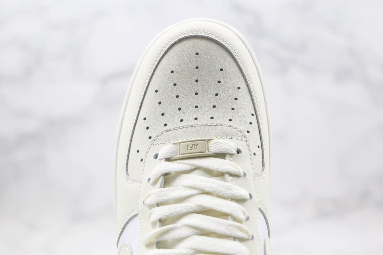 耐克Nike Air Force 1 LOW 07纯原版本低帮空军一号奶油拼接米白红色板鞋内置全掌Sole气垫 货号:DD7209-101