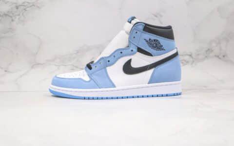 乔丹Air Jordan 1 High OG University Blue纯原版本高帮AJ1大学白黑蓝色正确后跟定型 货号:555088-134