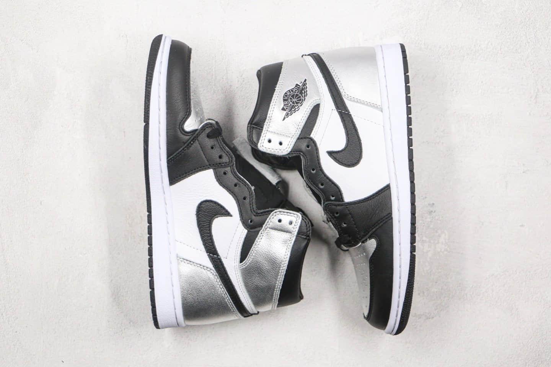 乔丹Air Jordan 1 High OG WMNS Silver Toe纯原版本高帮AJ1黑银脚趾原档案数据开发原盒原标 货号:CD0461-001