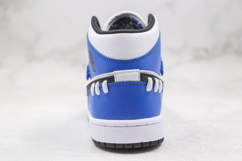 乔丹Air Jordan 1 Mid SE Game Royal纯原版本中帮AJ1捆绑小闪电白蓝色原鞋开模一比一打造 货号:CV0152-401