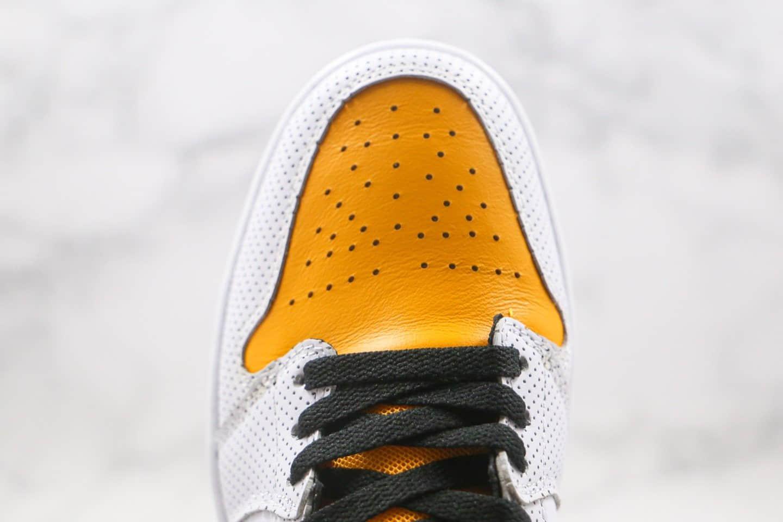 乔丹Air Jordan 1 Mid Laser Orange纯原版本中帮AJ1白黄黑勾冲孔原盒原标原楦头纸板打造 货号:BQ6472-107