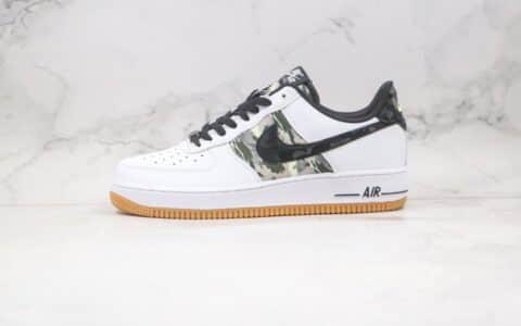 耐克Nike Air Force 1 PRM CLOT纯原版本低帮空军一号生胶豹纹白黑色板鞋原盒原标 货号:CZ7891-100
