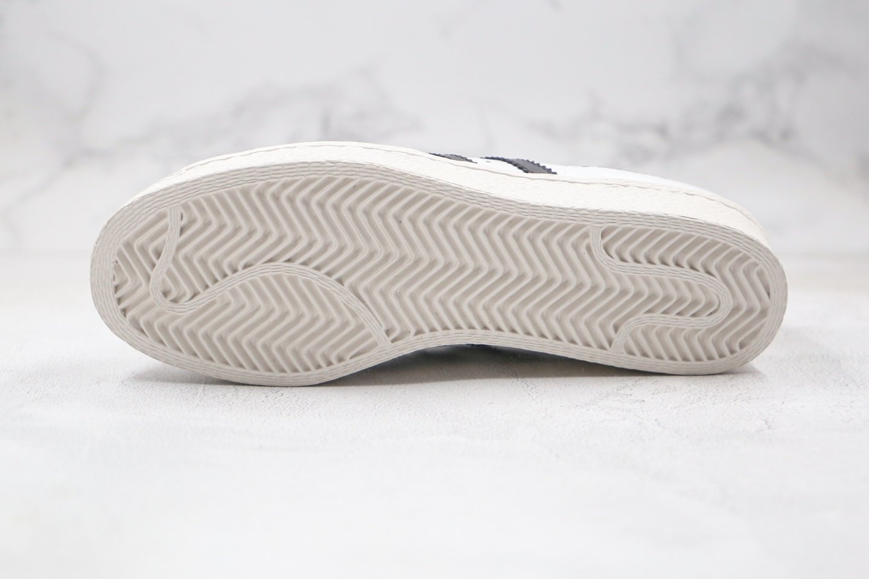 阿迪达斯adidas Originals Superstar 80s White Black x Prada普拉达联名款纯原版本白黑色贝壳头板鞋原盒原标原楦头纸板打造 货号:FW6880