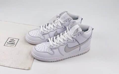 耐克Nike Dunk SB Pure Platinum纯原版本高帮SB DUNK铂金色板鞋内置后跟Zoom气垫 货号:CZ8149-101