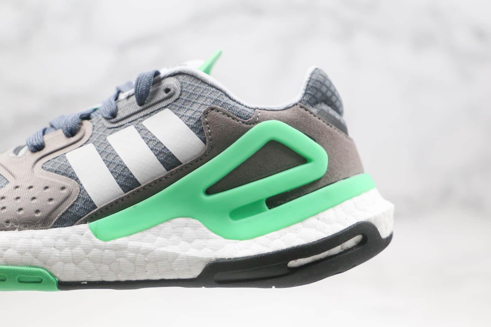阿迪达斯Adidas Originals 2020 Day Jogger Boost纯原版本夜行者二代灰绿色爆米花跑鞋原档案数据开发 货号:FW4868
