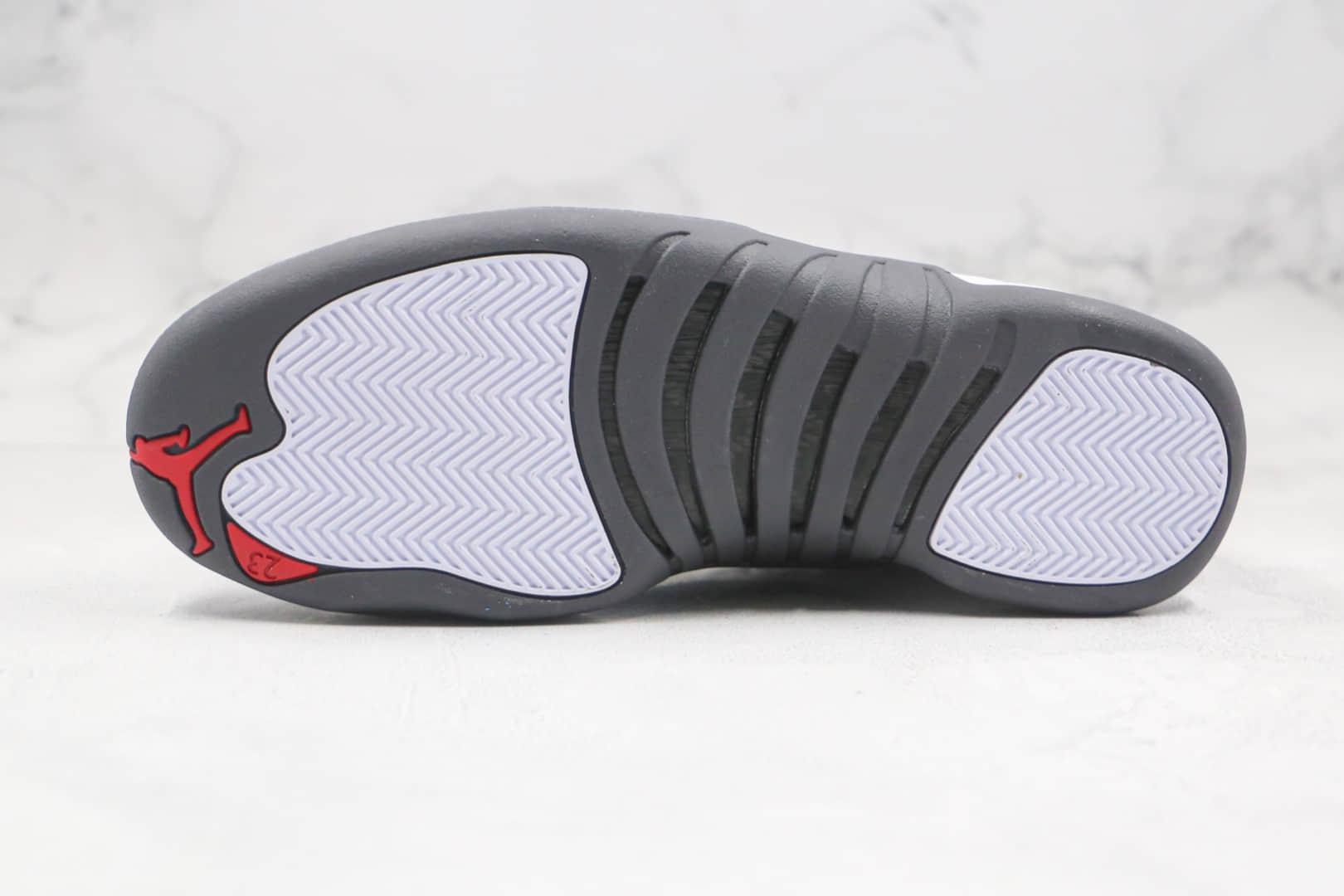 乔丹Air Jordan 12 Dark Grey纯原版本高帮AJ12白灰色篮球鞋内置碳板气垫支持实战 货号:130690-160