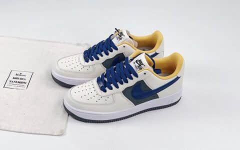 耐克Nike Air Force1 LOW'07纯原版本低帮空军一号米黄蓝灰板鞋内置全掌Sole气垫 货号:CK7214-101