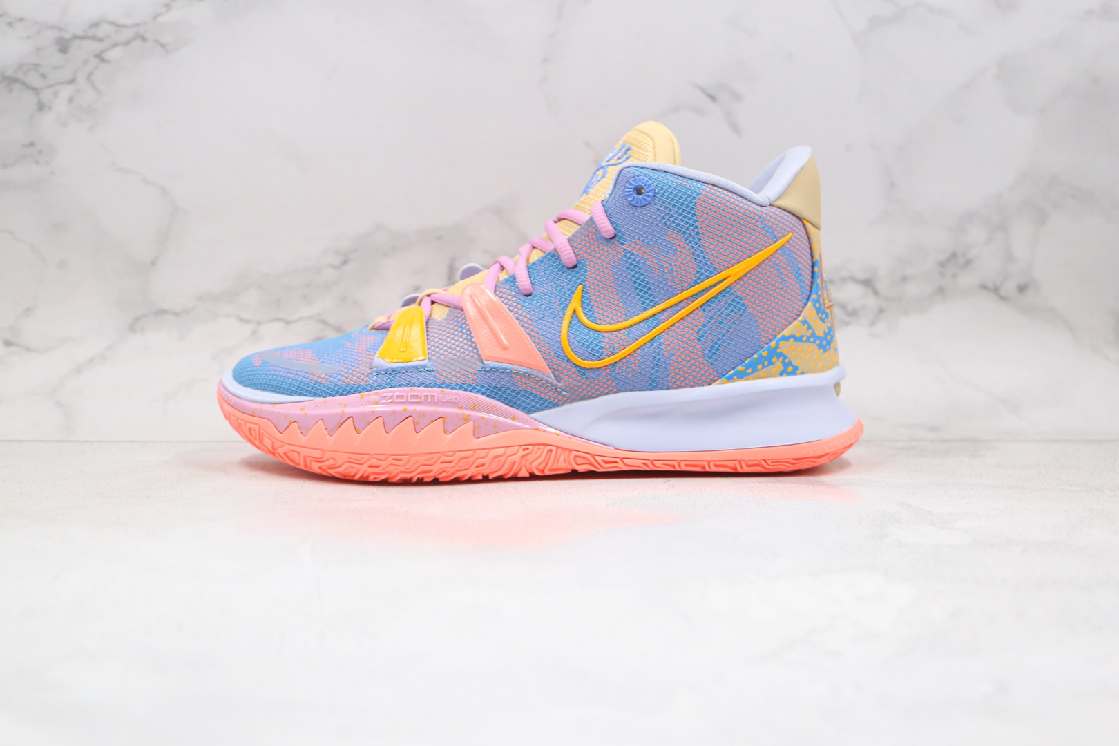 耐克Nike Kyrie 7 EXPRESSIONS纯原版本欧文7代艺术主题蓝粉色篮球鞋内置气垫支持实战 货号:DC0589-003