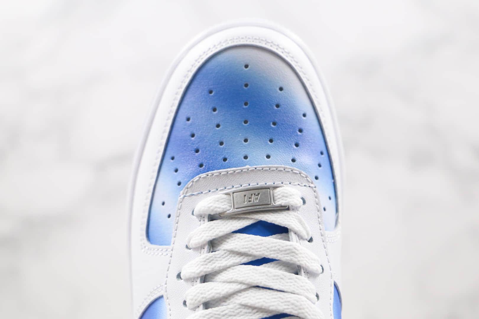 耐克Nike Air Force 1 Low纯原版本低帮空军一号蓝天白云板鞋内置全掌Sole气垫 货号:DC1404-100